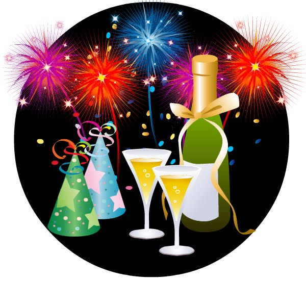 New Year's Eve Party Clip Art.