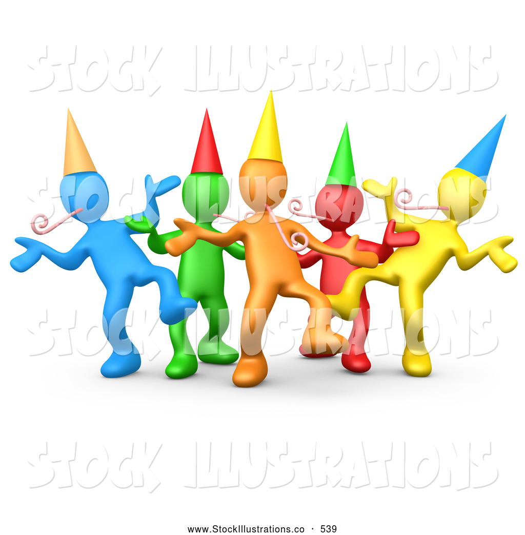 Royalty Free Partying Stock Designs.