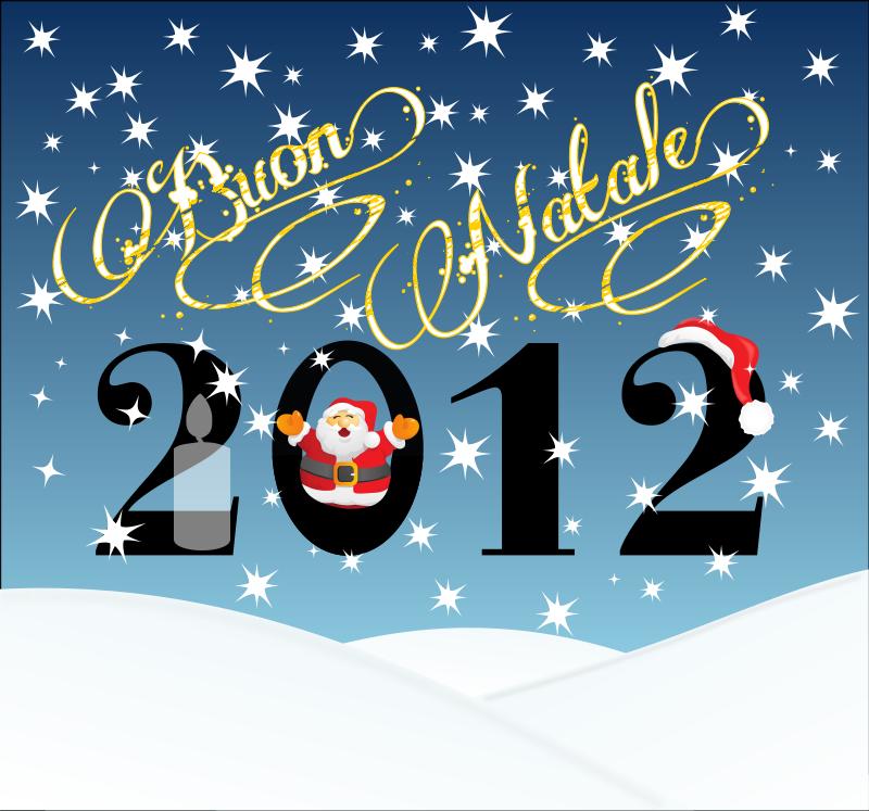 Free Clipart: Buon Natale 2012.