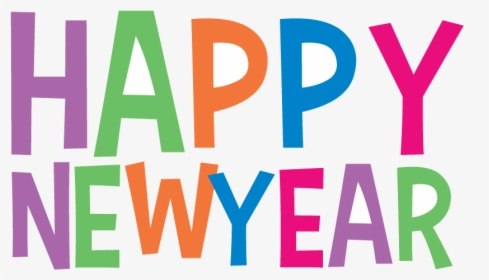 Happy New Year Word Art Free Png Image.
