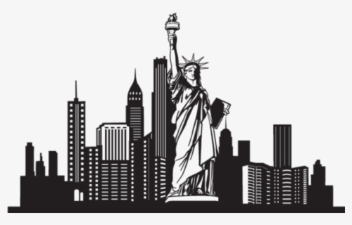 Free New York City Skyline Clip Art with No Background.