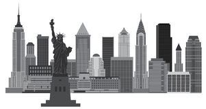 New york city skyline free clipart.