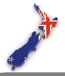 Free Clipart New Zealand Map.