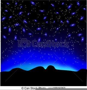 Free Clipart Night Sky.