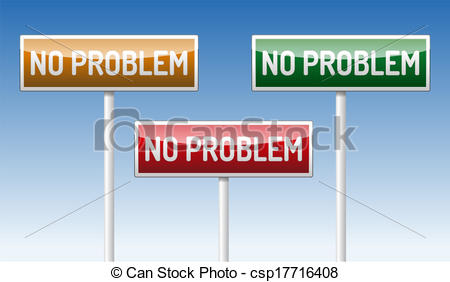 Vector Clipart of No problem traffic board.