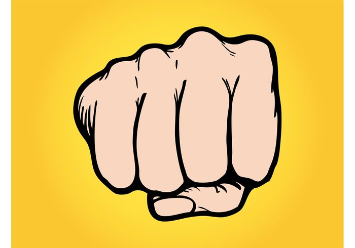 Punching Fist Vector.