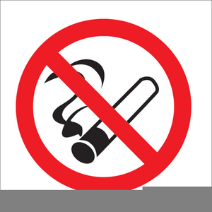 No Smoking Signs Clipart.