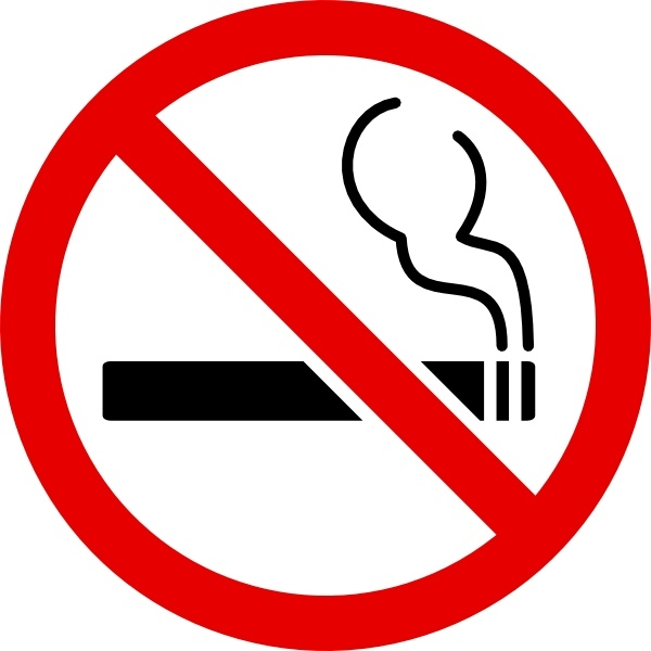 No Smoking Sign clip art Free vector in Open office drawing.