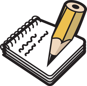 85 notepad free clipart.