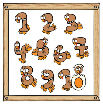 Turkey Numbers Clip Art.
