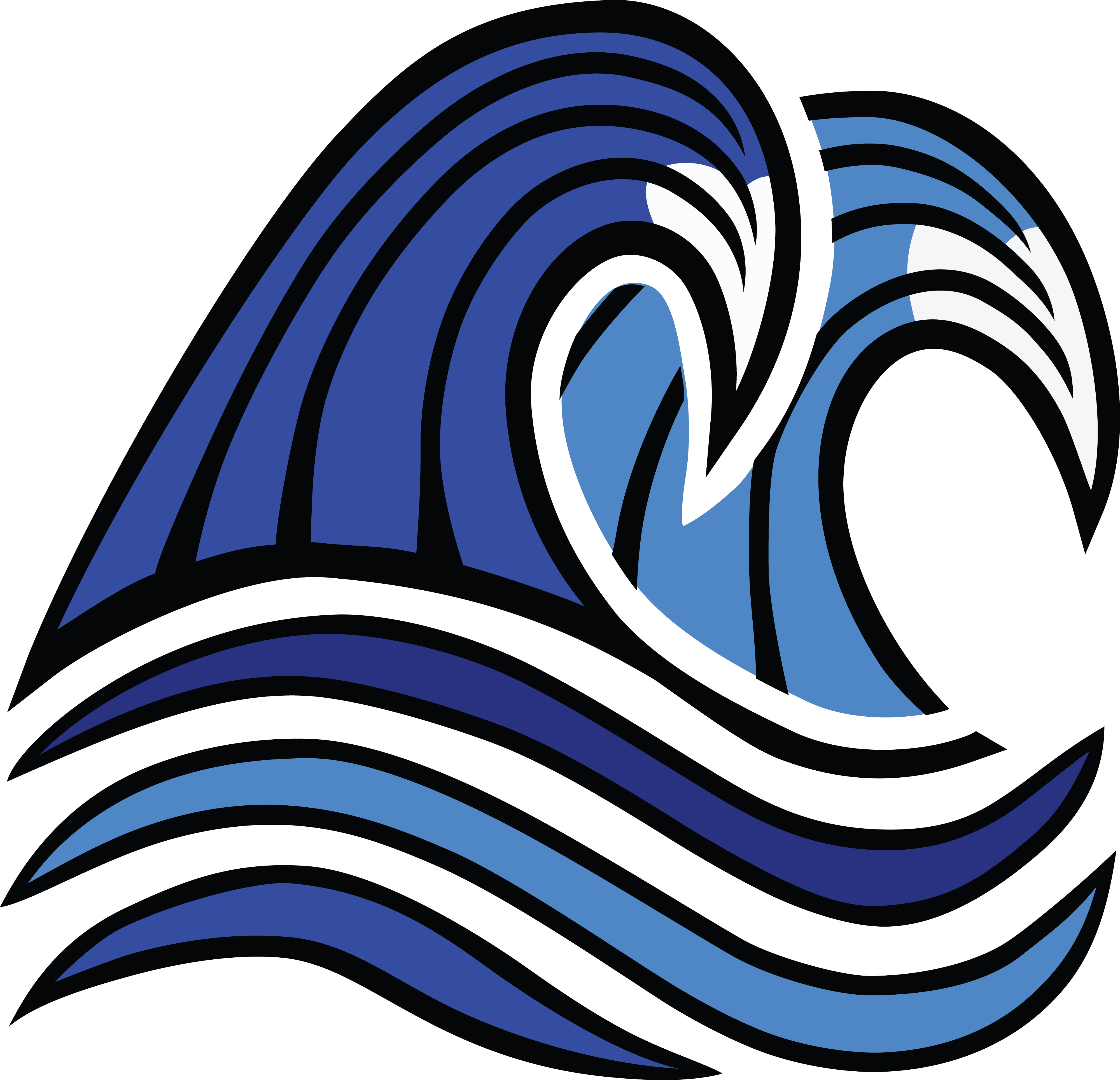 Free Clipart Of ocean waves.