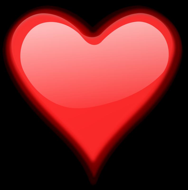 Free Clipart: Heart Gloss 3.