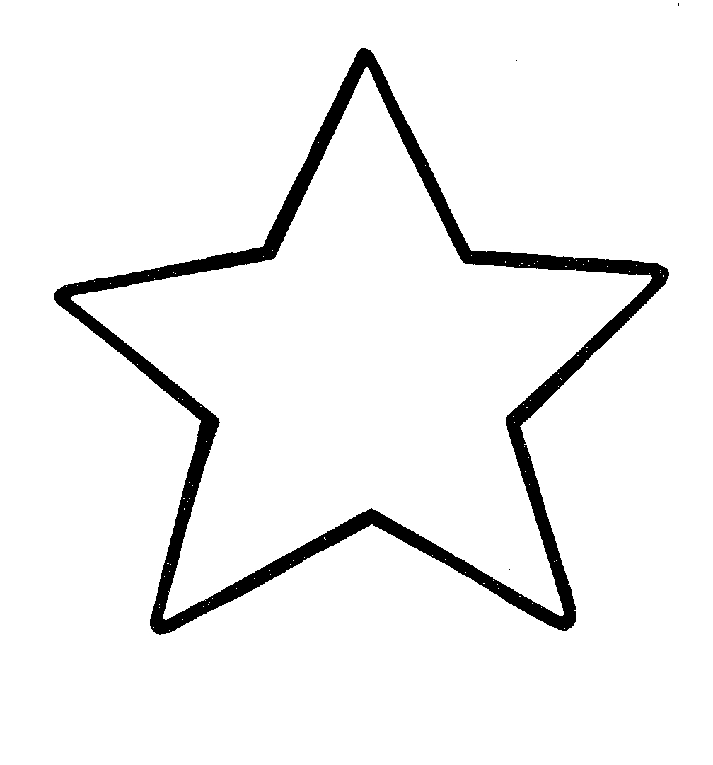 Star clip art outline free clipart images.