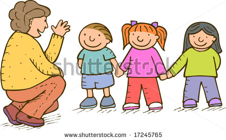 Mother Talking To Child Clipart.