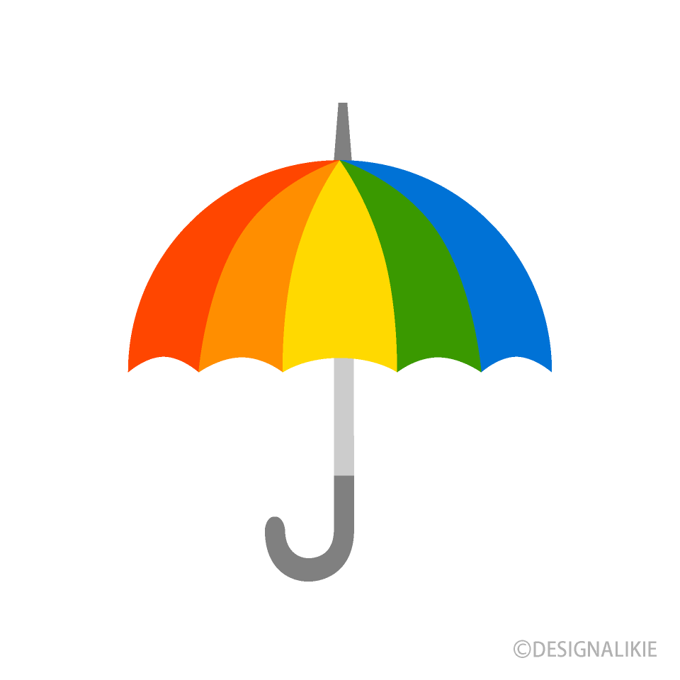 Free Rainbow Umbrella Clipart Image|Illustoon.