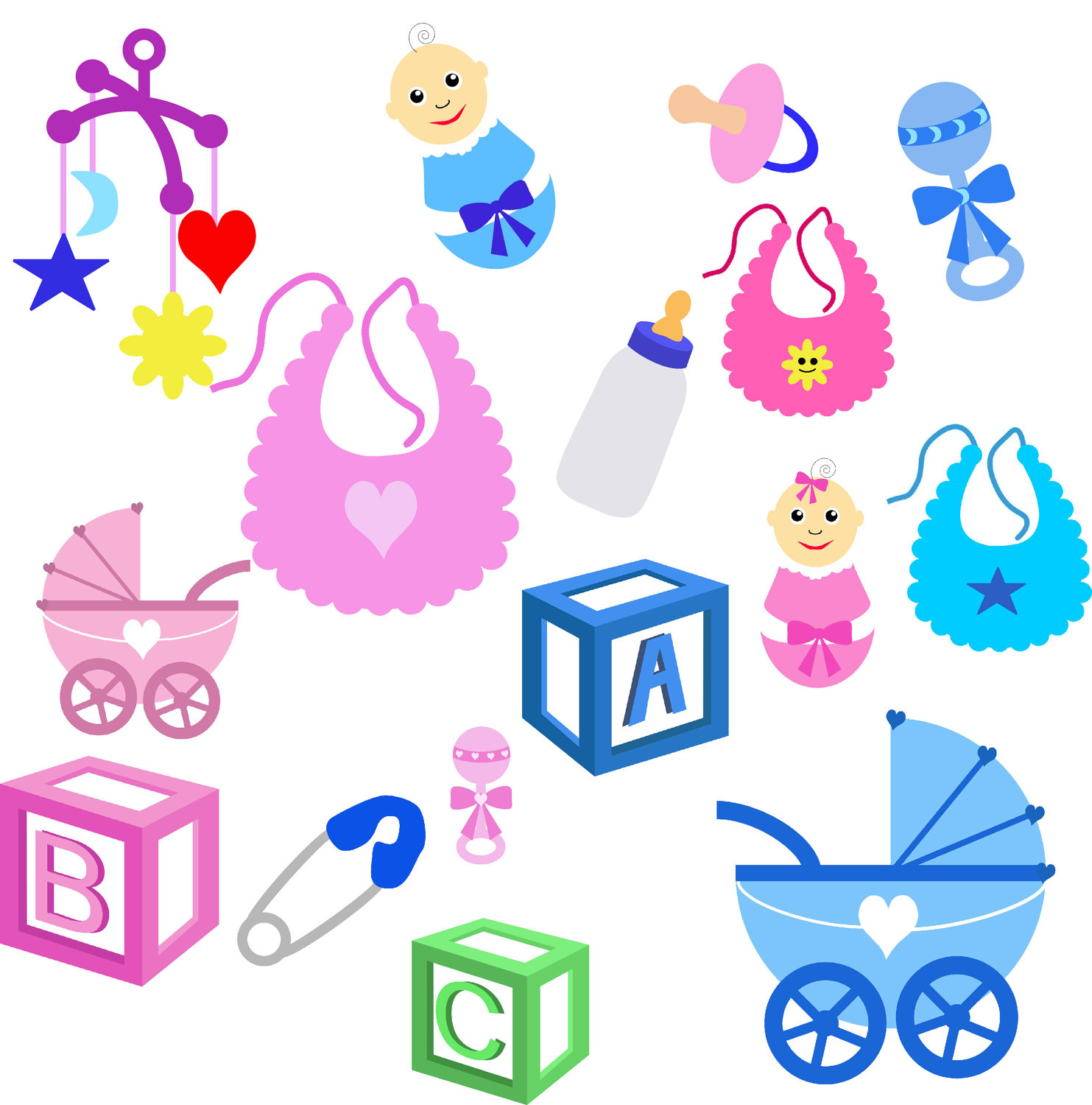 Baby Items Clipart.