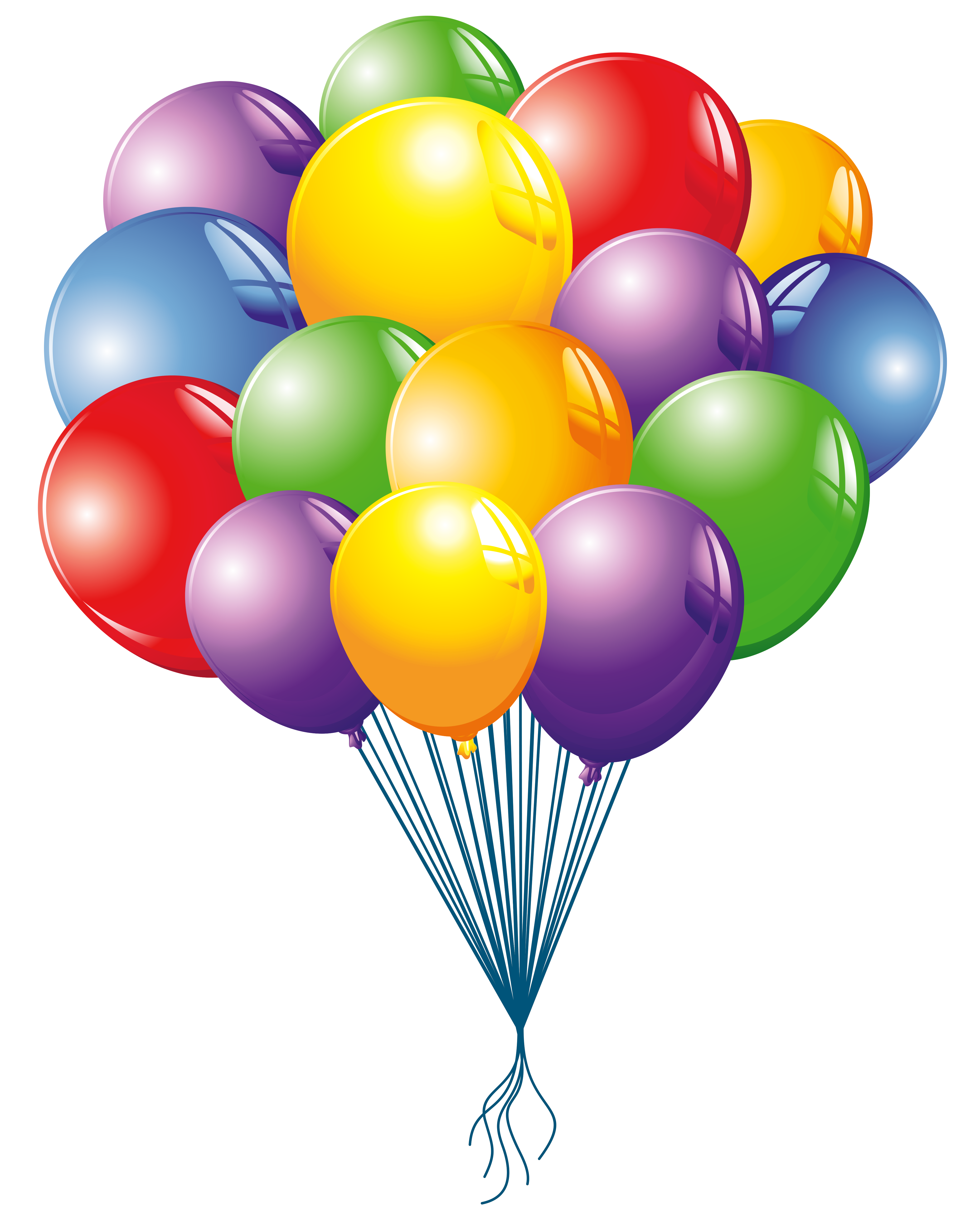 Balloons Clipart Image.