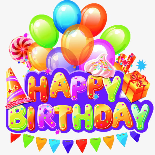 Birthday celebration PNG clipart.