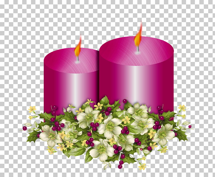 Christmas Candle , Burning candles PNG clipart.