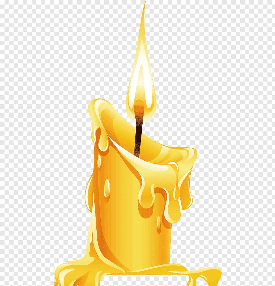 Yellow candle, Candle Birthday cake, Burning candles free.