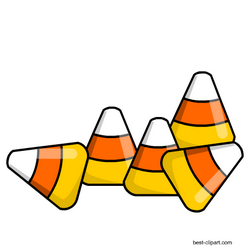 Free candy corn pieces clipart.