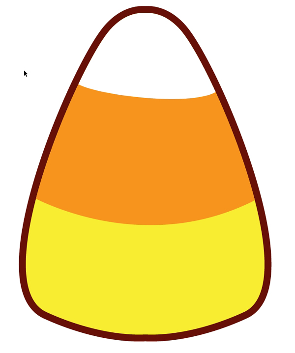 747 Candy Corn free clipart.
