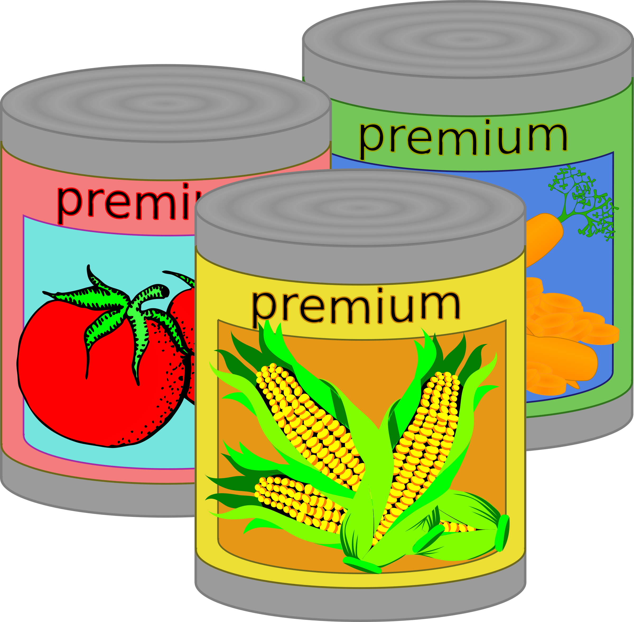 445 Canned Food free clipart.