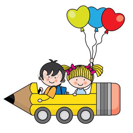 Happy kids car ride Stock Vectors, Royalty Free Happy kids car.