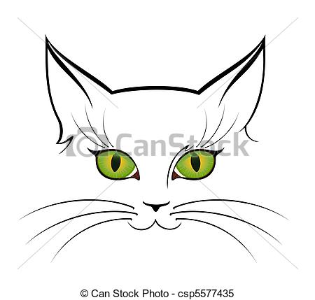 Clipart Vector of image of cat eyes csp5577435.