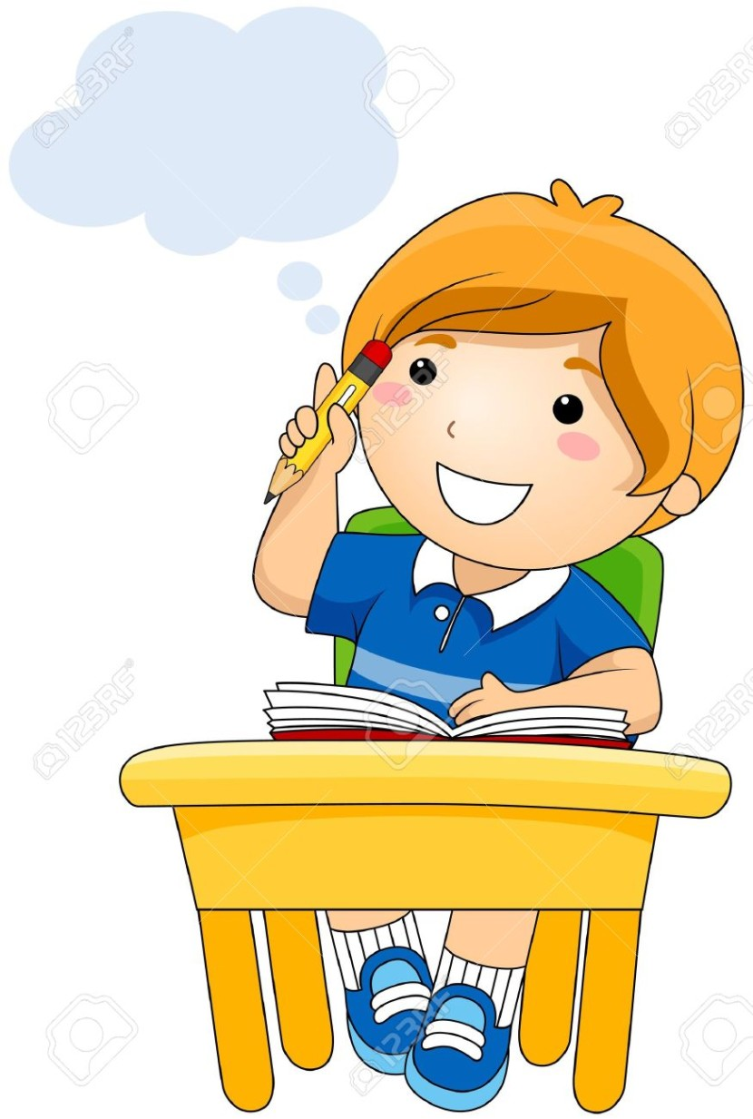 A Child Thinking Clipart.