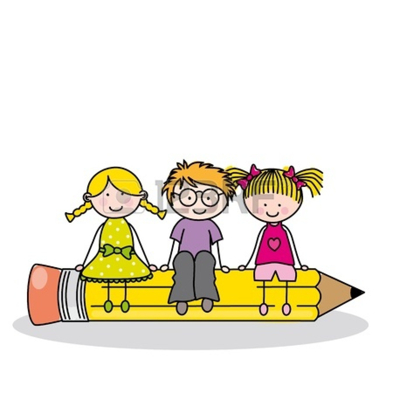 Children At School Free Clipart.