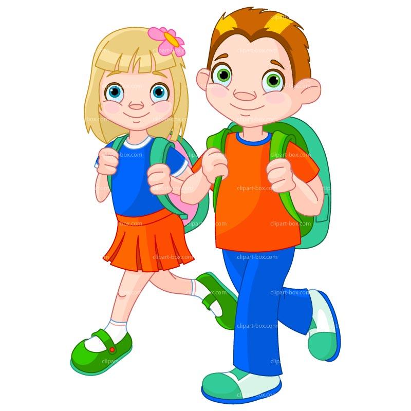 Free Clipart Children At School.