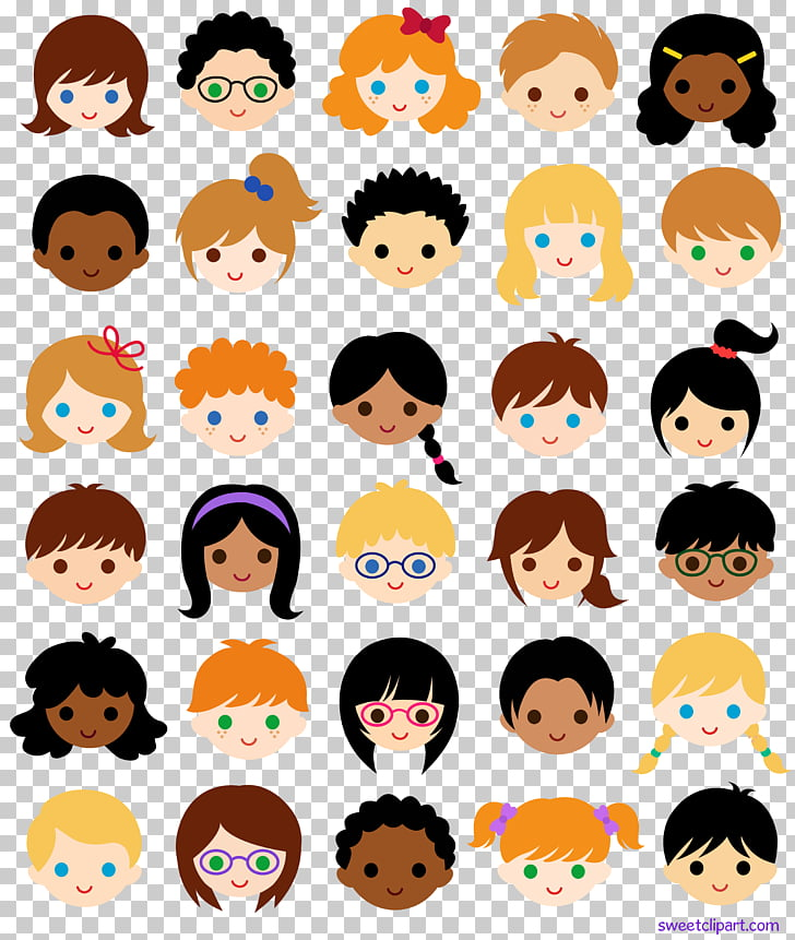 Child Smiley Face , faces, girl face PNG clipart.