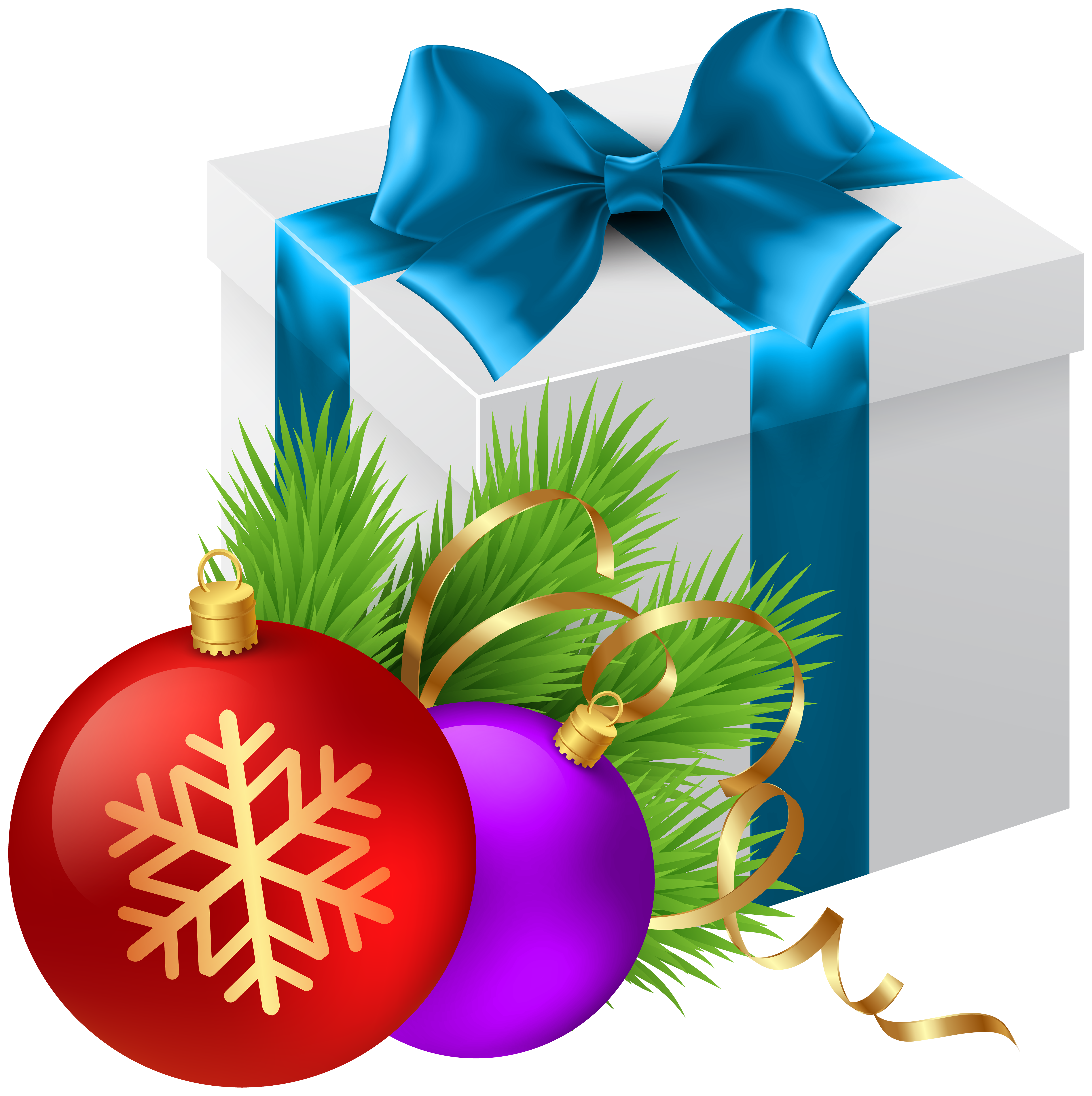 Christmas Gift Transparent PNG Clip Art Image.