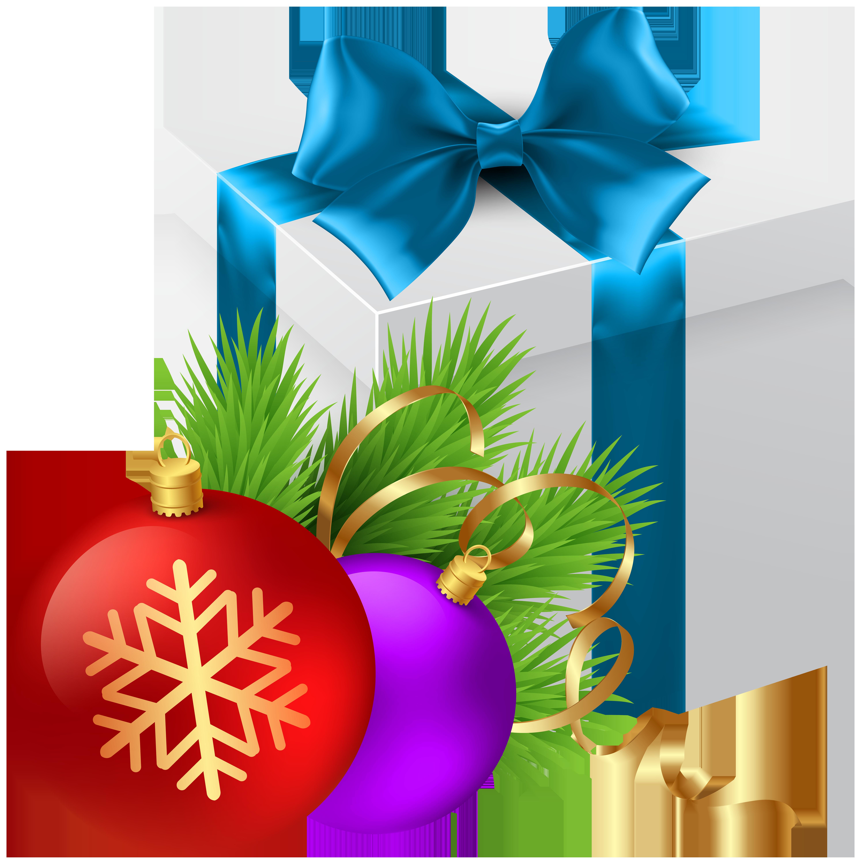 Christmas Gift Transparent PNG Clip Art Image.