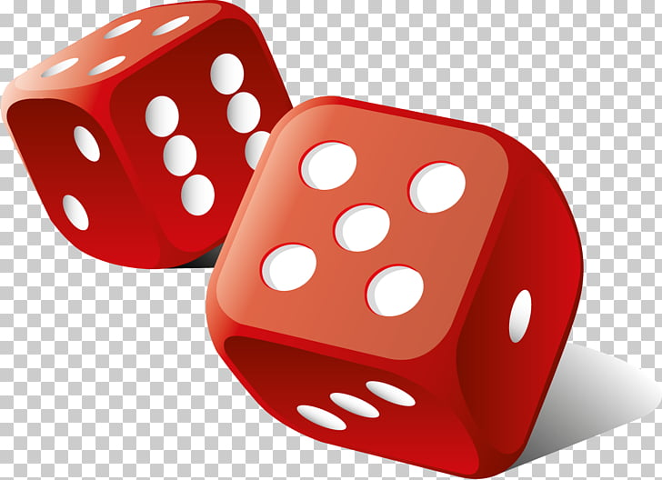 Dice , red dice PNG clipart.