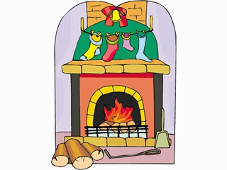 Fireplace With Christmas Tree Clipart#1991209.