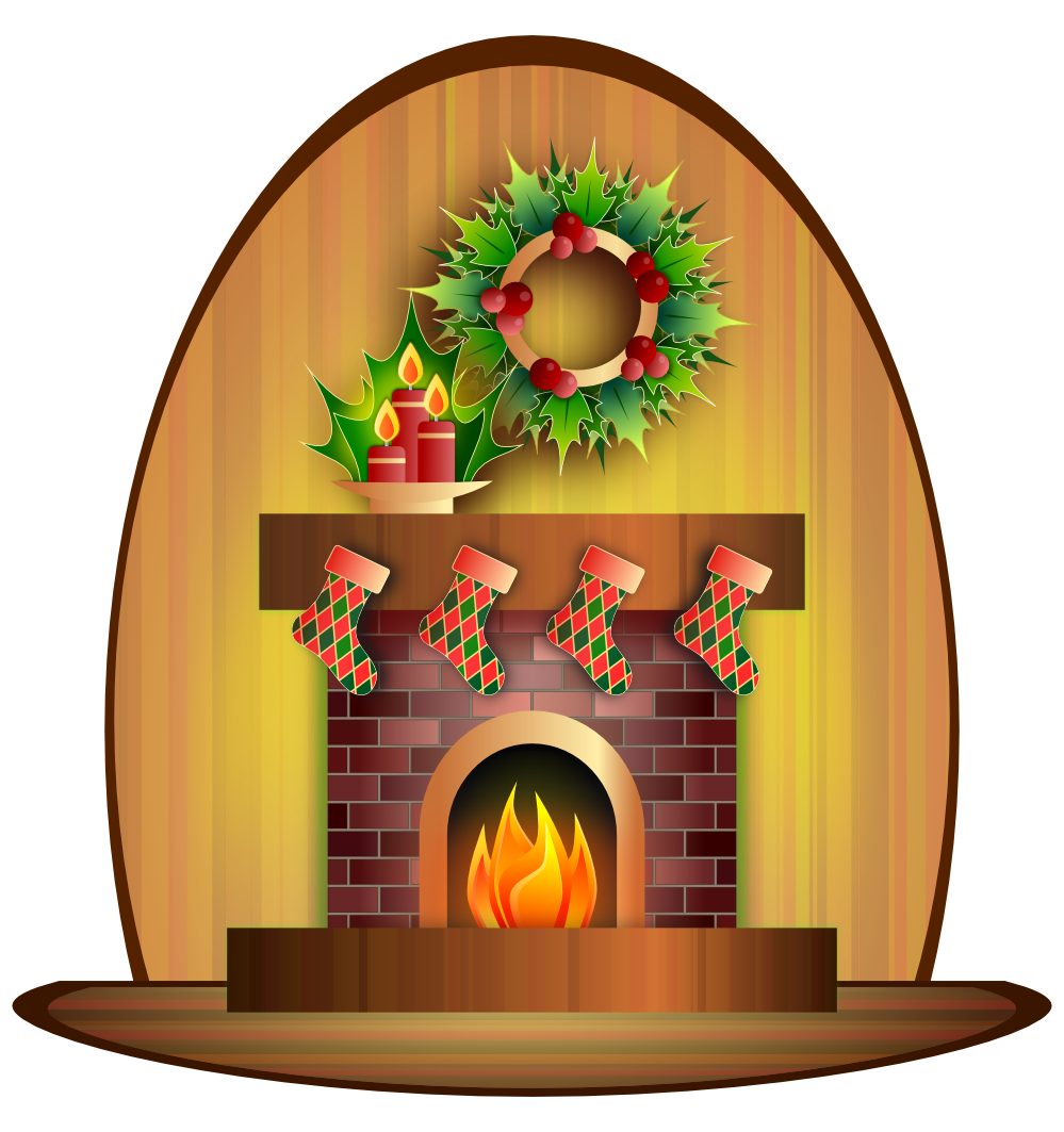 clipartist.net » Clip Art » Card Christmas Fireplace Xmas Scalable.