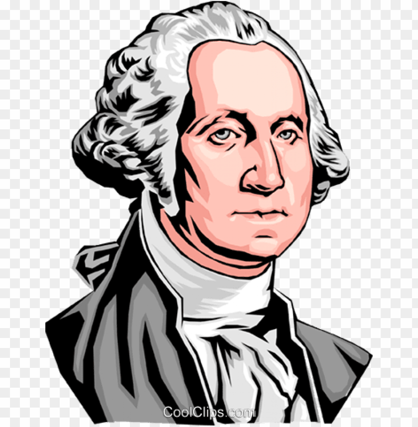 eorge washington royalty free vector clip art illustration.