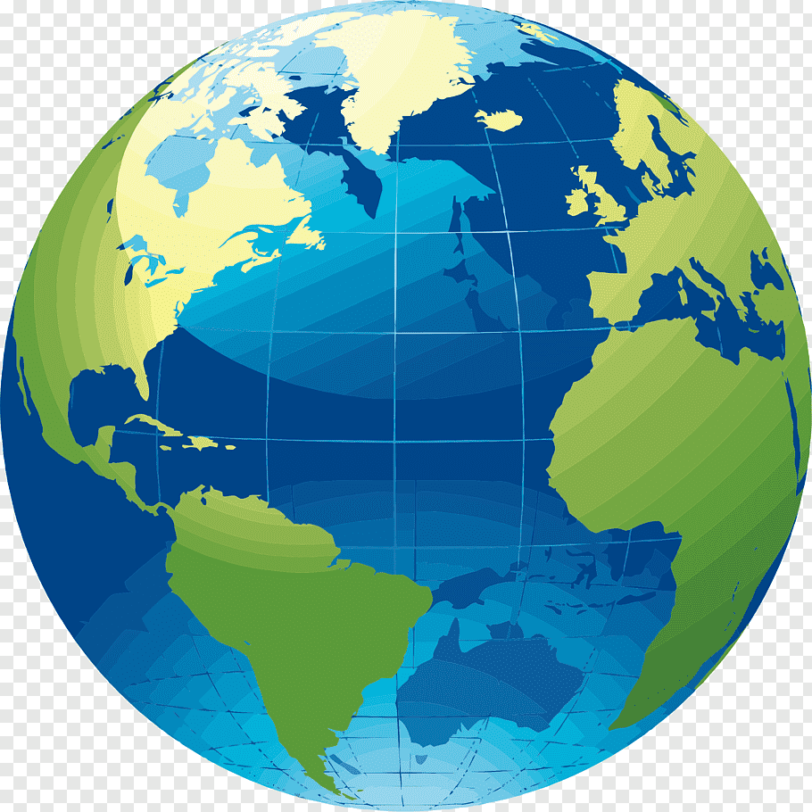Globe World map, earth free png.