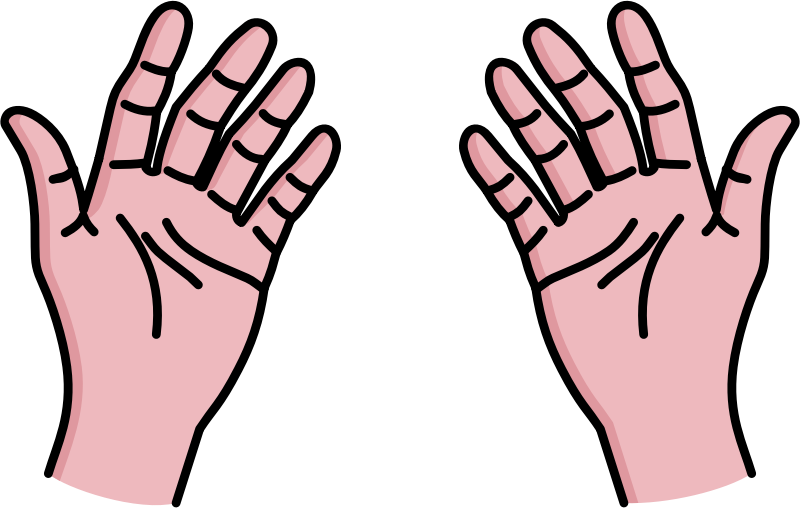 Hands clipart black and white free clipart images.
