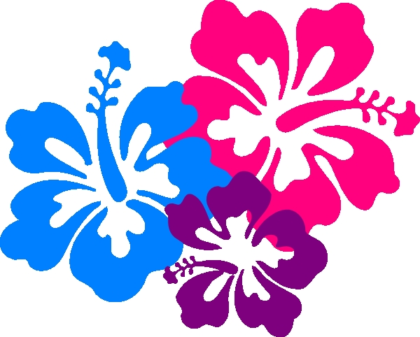 Hawaii Flowers Clip Art Hawaiian Flower Clip Art Borders.