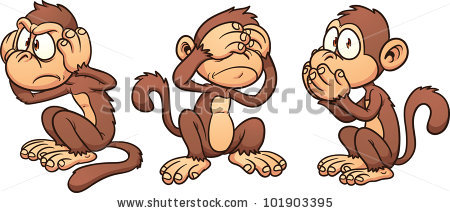 Hear No Evil See No Evilspeak Stock Vector 101903395.