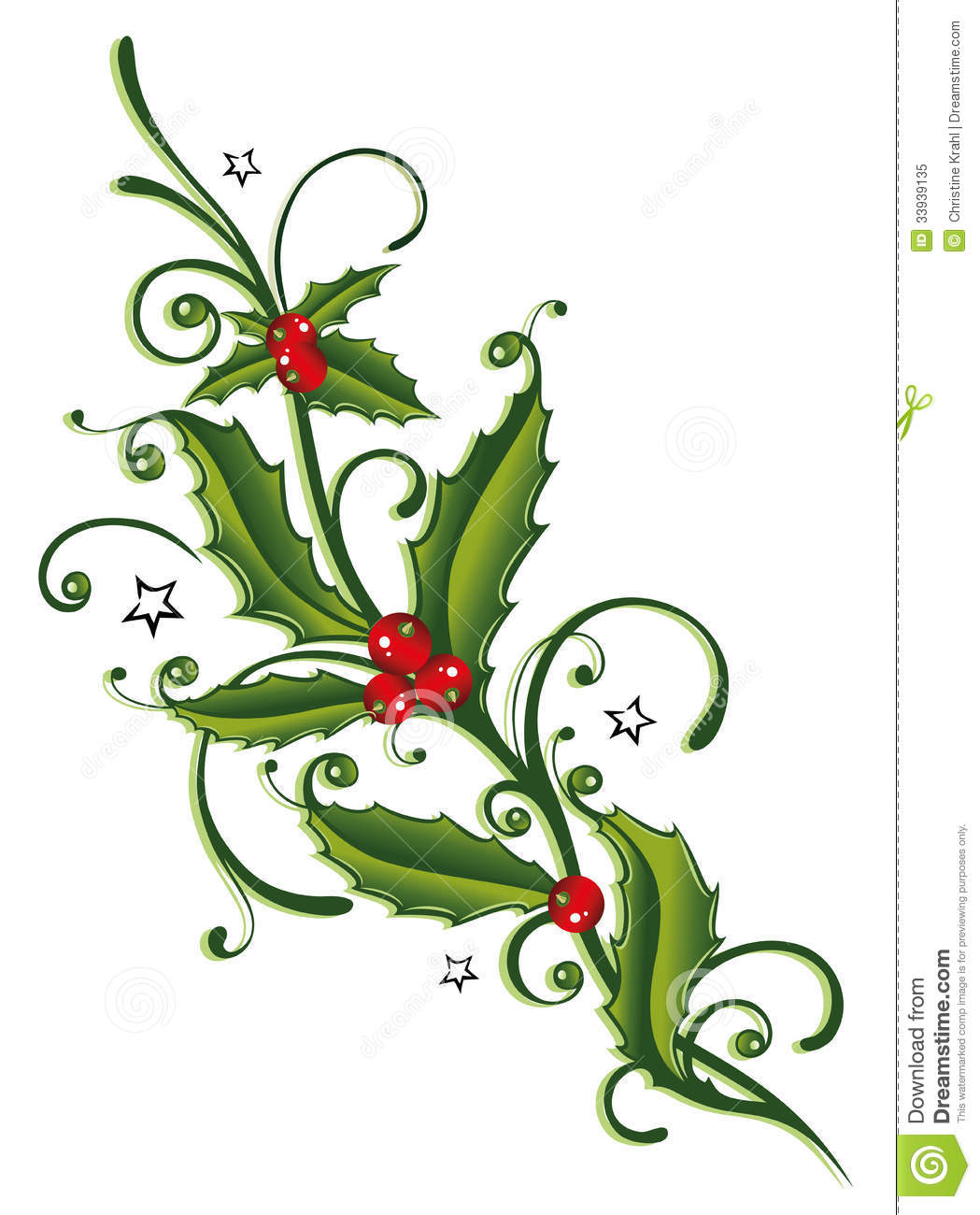 250 Holly Leaves free clipart.