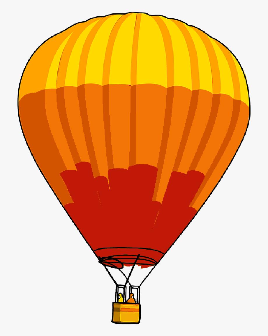 Cartoon Hot Transportation Fly Air Balloons.