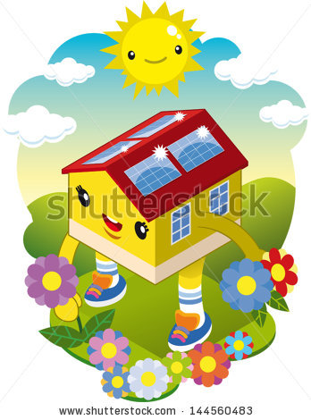 Solar Panel House Stock Photos, Royalty.