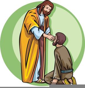 Jesus Heals Blind Man Clipart.