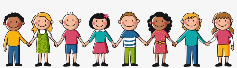 Banner Freeuse Friends Holding Hands Clipart.