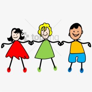 Kids Holding Hands Clipart , Transparent Cartoon, Free.