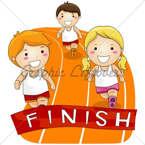 running girl clipart for free.